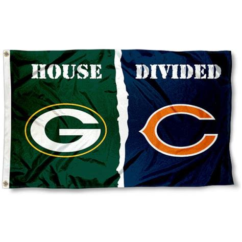 packers  bears house divided flag  packers  bears house divided flag source