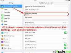 iOS How To Remove Subscribed Calendars From iPhone And