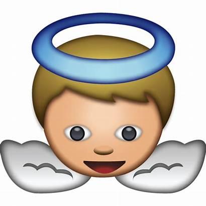 Emoji Angel Emojis Transparent Clipart Face Icon