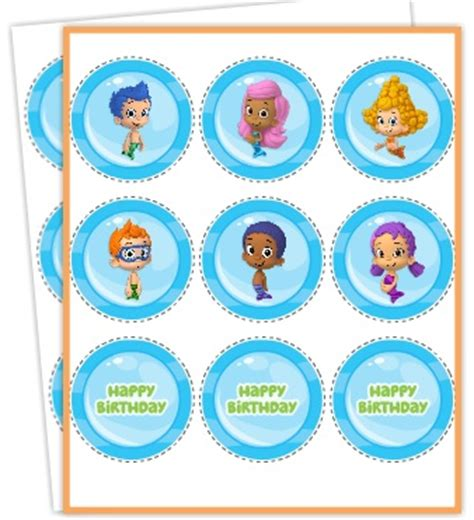 guppies cake topper templates free printables guppies jello recipe and