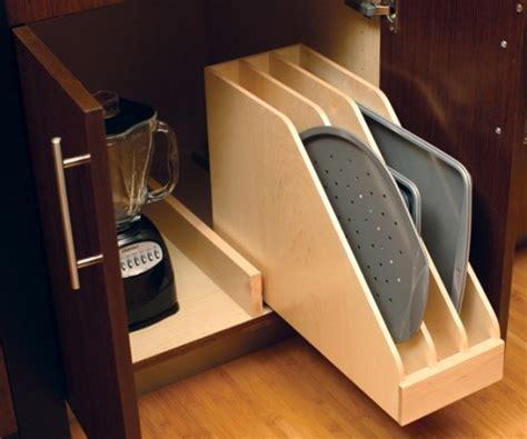 creative ideas  organize baking dishes storage