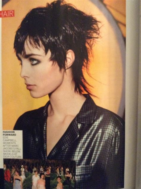 edie campbell punked  tough pixie mullet hairstyles