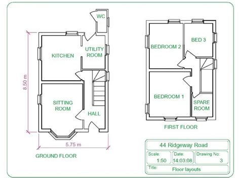 the house drawing plan layout building drawing part 1 autocad 2011