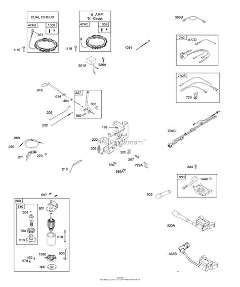 G1 Starter Wiring Diagram by Briggs And Stratton 33r877 0003 G1 Parts Diagram For