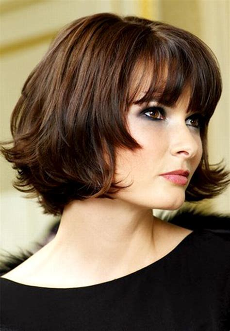 Brunette Short to Medium Hairstyle   Short to Medium