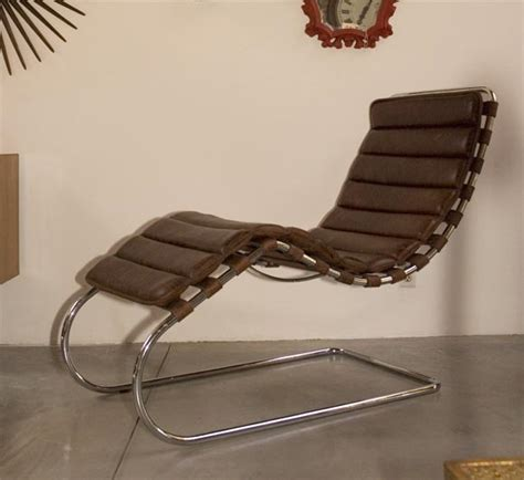 chaise der rohe mies der rohe chaise lounge at 1stdibs
