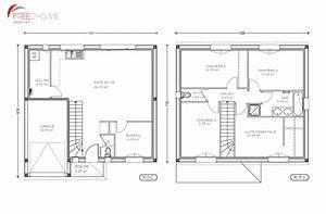 plan de maison a etage 100m2 With plan maison etage 100m2 0 plan de maison rectangulaire avec etage