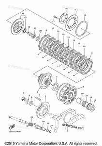 Yamaha Motorcycle 2011 Oem Parts Diagram For Clutch