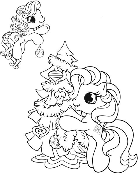 pony christmas coloring pages
