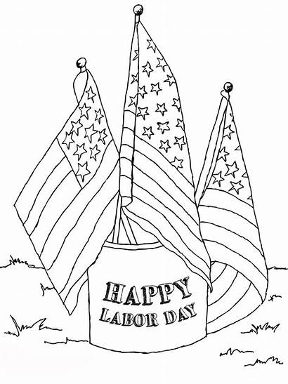 Labor Coloring Pages Printable Flags