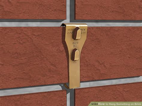 how to hang something brick 12 steps with pictures wikihow