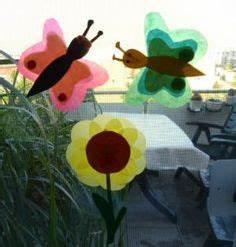 Blumen Basteln Fensterdeko : sonnenblume aus transparentpapier sommer pinterest transparentpapier sonnenblumen und ~ Markanthonyermac.com Haus und Dekorationen