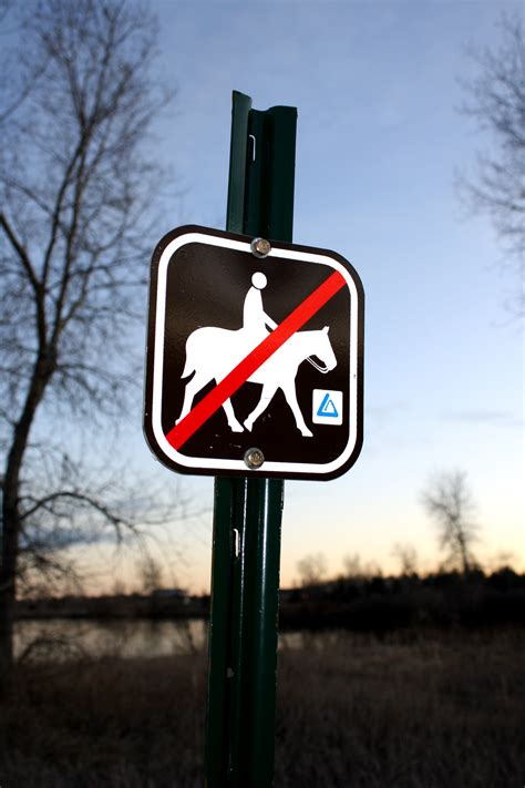 No Horseback Riding Allowed Sign Picture | Free Photograph ...