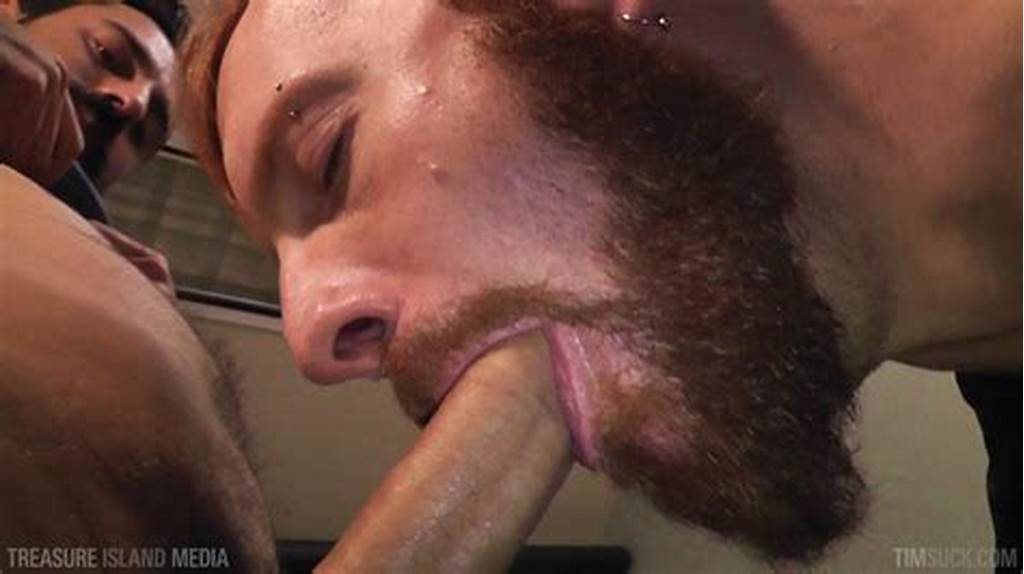 #Bearded #Ginger #Services #A #Big #Uncut #Cock #And #Eats #The #Cum