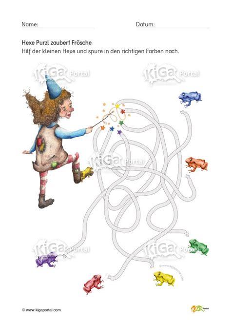 de kigaportal hexepurzl nachspuren froesche kindergarten
