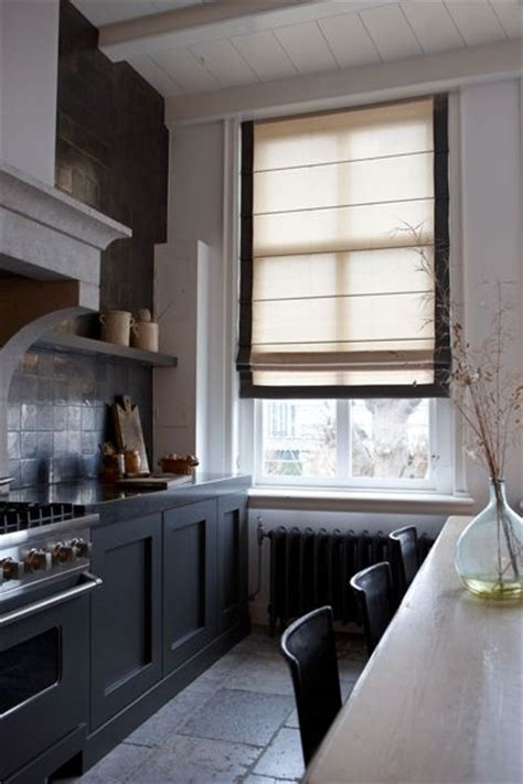 country kitchen blinds a narrow space with linen blind kitchen kitchens 6136
