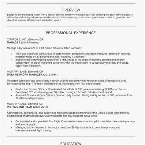 Chronological Resume by Exle Of A Chronological Resume