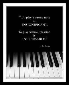 BEETHOVEN MUSIC QUOTE, Piano Keyboard Photo, Pianist ...