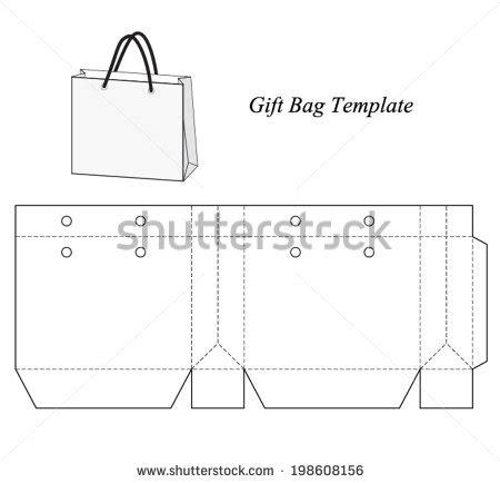 bag template shopping bag free vector 123freevectors