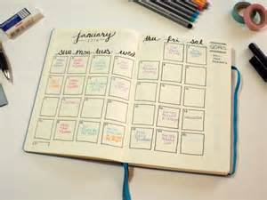Calendar Bullet Journal Layout