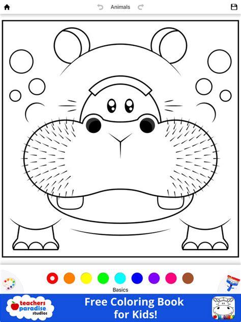app shopper coloring book  kids animal square heads
