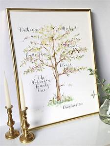 Personalised Calligraphy Family Tree Print By By Moon