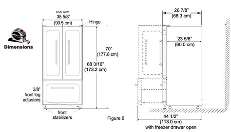 Samsung Cabinet Depth Refrigerator French Door by Fridge Dimensions Www Imgkid Com The Image Kid Has It