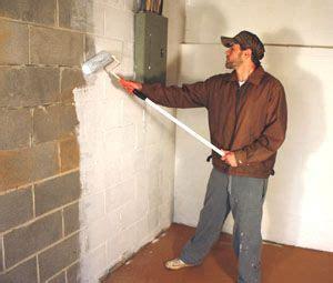 waterproof basement walls applying  masonry waterproofing