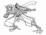 Overwatch Genji Headcanon Cocky Closed sketch template