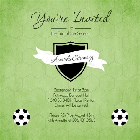 Banquet Invitation Templates Free by Football Banquet Invitation Templates