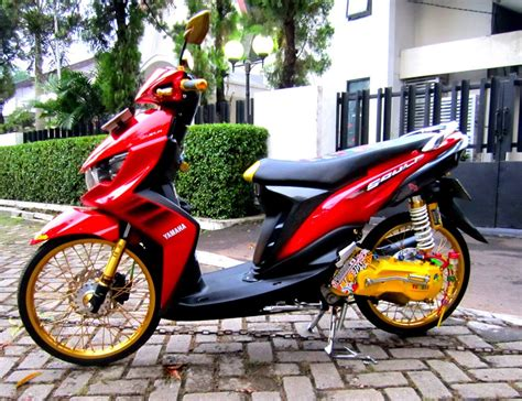 Mio Soul Modifikasi Warna by Modifikasi Mio Soul Gt Drag 125 Ring 17 Warna Merah Hitam