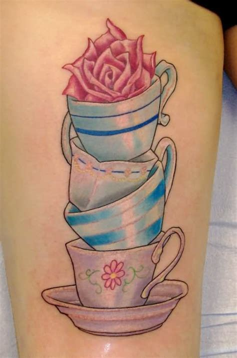 alice  wonderland teacup tattoos