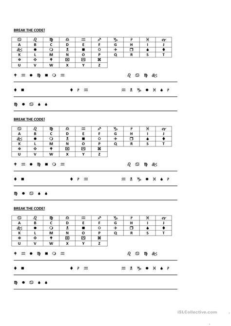 break the code worksheet free esl printable worksheets made by teachers