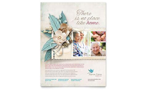 hospice home care flyer template design