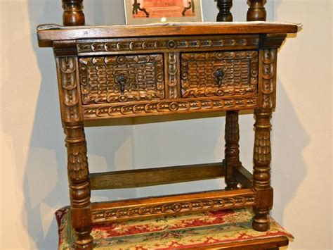 drawer reproduction spanish colonial nightstand  carved feathe mediterrania home