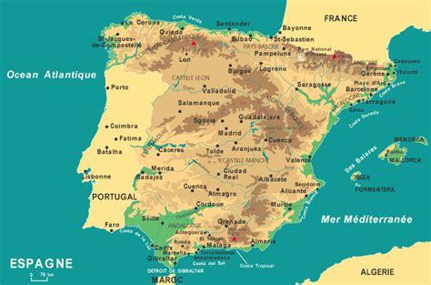 Cote Atlantique Espagne Carte by Sud Est Espagne