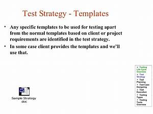 test life cycle With test automation strategy document template
