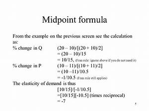 Here we show the midpoint formula for calculating ...