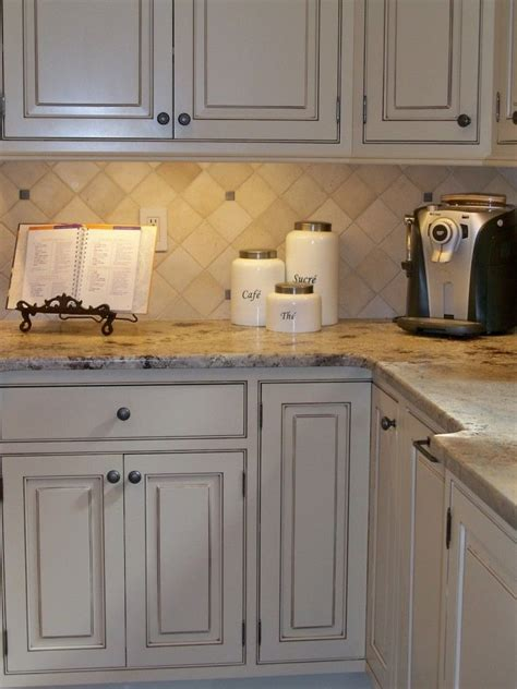 butter cream glazed kitchen cabinets kitchen
