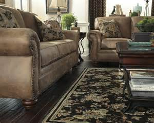 larkinhurst 2pc traditional sofa loveseat set fabric living room nail trim ebay