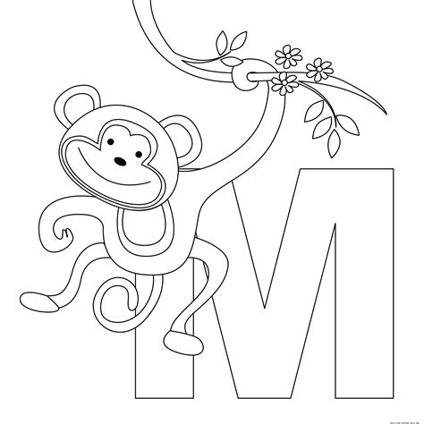 printable animal alphabet letters  coloring pagesfree