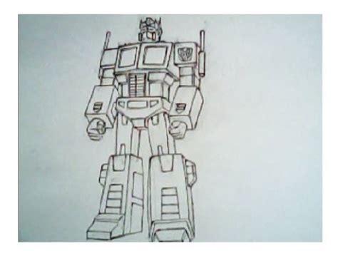 drawing optimus prime  transformers robot mode youtube