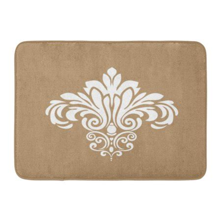 damask doormat godpok abstract white floral traditional damask pattern