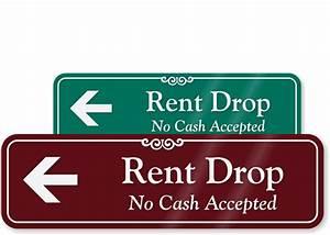 Rent A Drop : rent drop no cash accepted sign with left arrow sku se 1663 l ~ Medecine-chirurgie-esthetiques.com Avis de Voitures