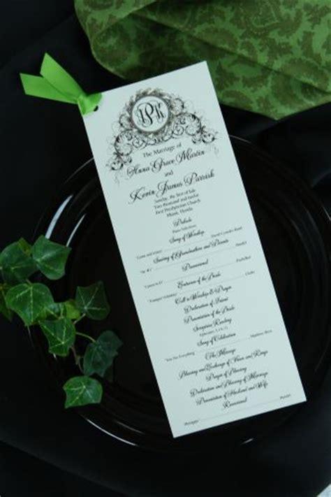 one page wedding program wedding program wiregrass weddings
