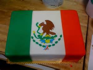 Mexican Flag Cake