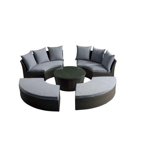 canape rond salon de jardin rilasa rond modulable 2 canap achat