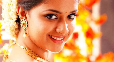 rama blouse keerthi suresh in half saree photos