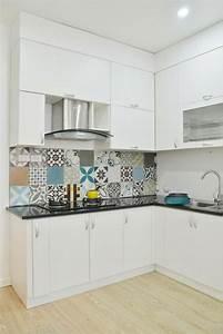 Carreau De Ciment Mural Cuisine : papier peint imitation carrelage en 50 id es ~ Louise-bijoux.com Idées de Décoration