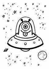 Alien Ufo Coloring Space Pages Adult Grade Monkey Cliparts Funny Third Preschoolers Print sketch template